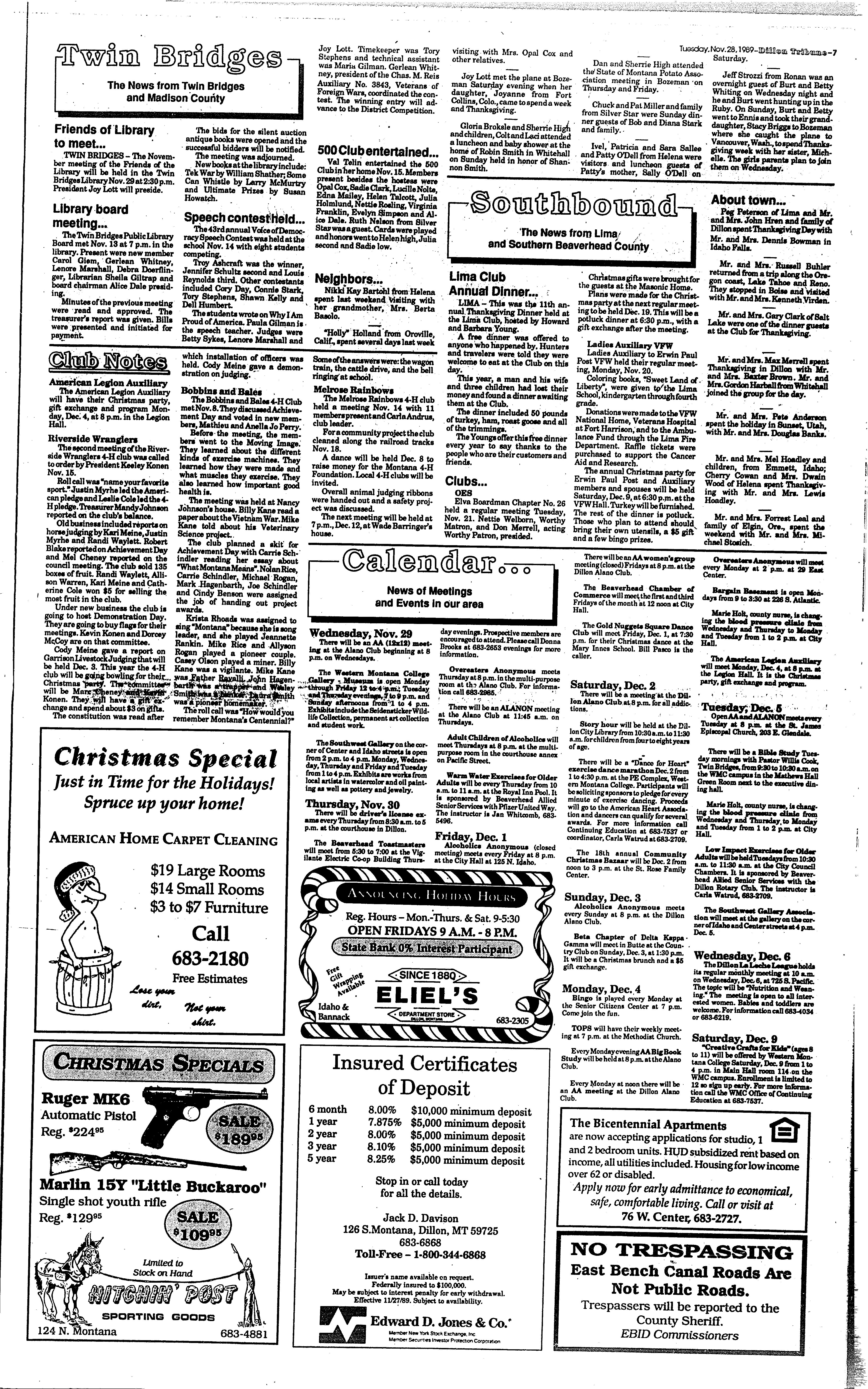 Dillon Tribune (Dillon, Mont.) 1989-current, November 28, 1989, Page ...