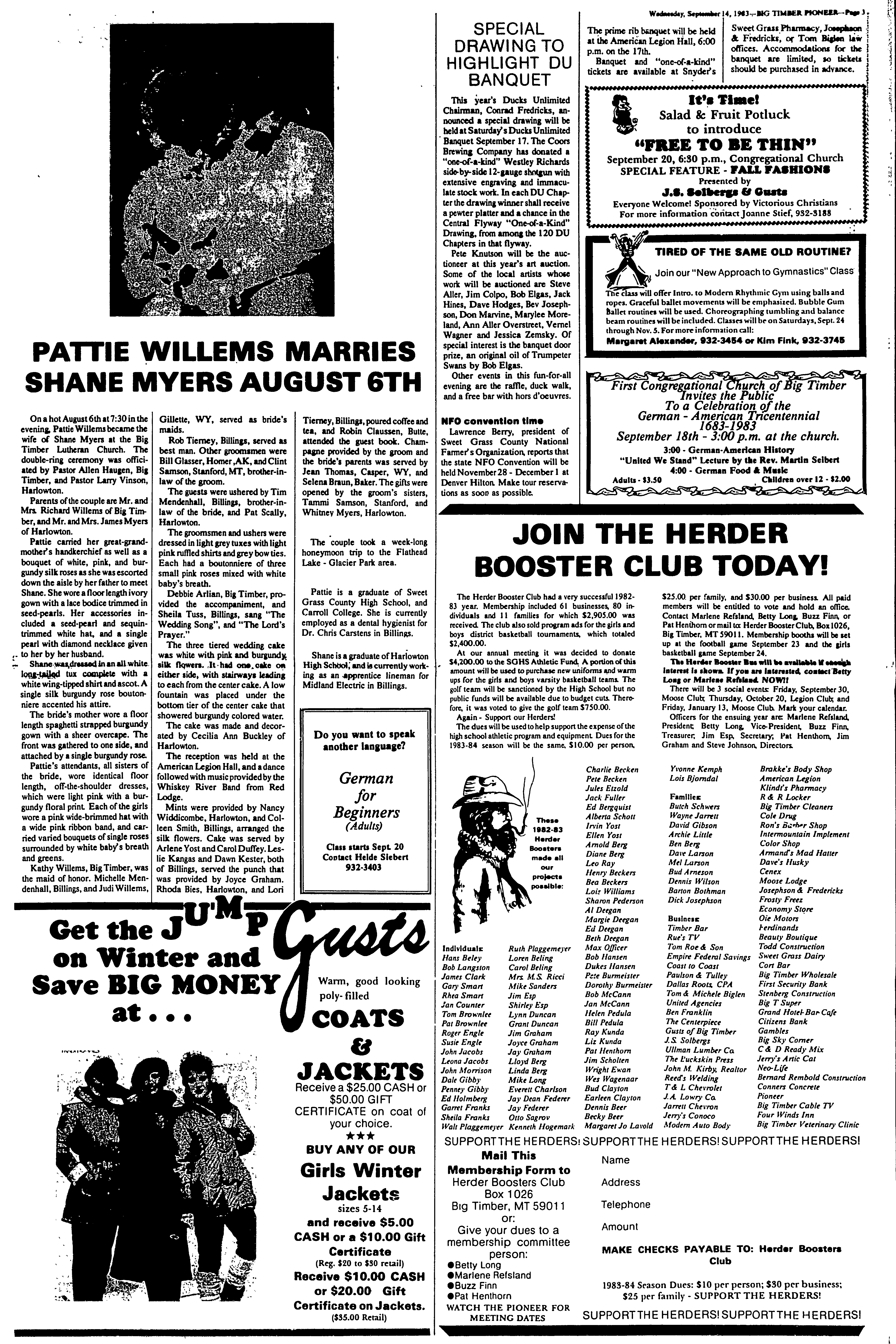 The Big Timber Pioneer, September 14, 1983, Page 3, Image 3