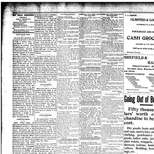 Big Hole Breezes (Jackson, Mont ) 1898-1915, June 14, 1901, Page 4