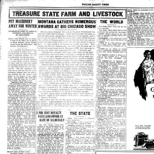 Fallon County Times (Baker, Mont ) 1916-current, January 18, 1923
