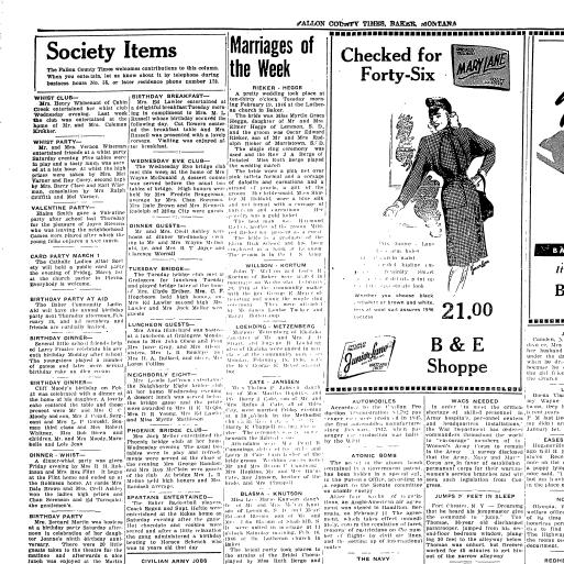 Fallon County Times (Baker, Mont ) 1916-current, February 21, 1946
