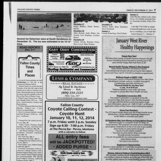 Fallon County Times (Baker, Mont ) 1916-current, December 27