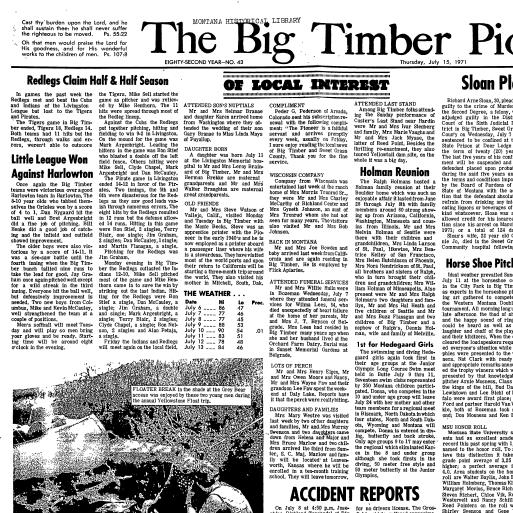 Big Timber Pioneer (Big Timber, Mont ) 1890-1975, July 15