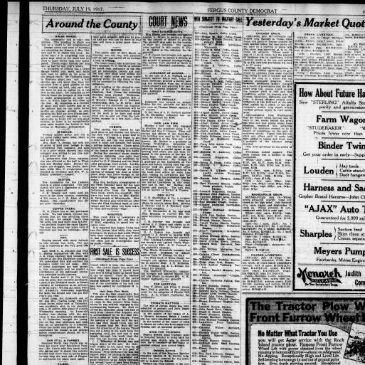 Fergus County Democrat (Lewistown, Mont ) 1904-1919, July 19, 1917