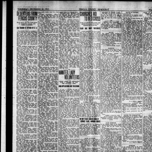 Fergus County Democrat (Lewistown, Mont ) 1904-1919, December 20
