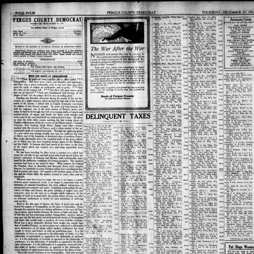 Fergus County Democrat (Lewistown, Mont ) 1904-1919, December 27