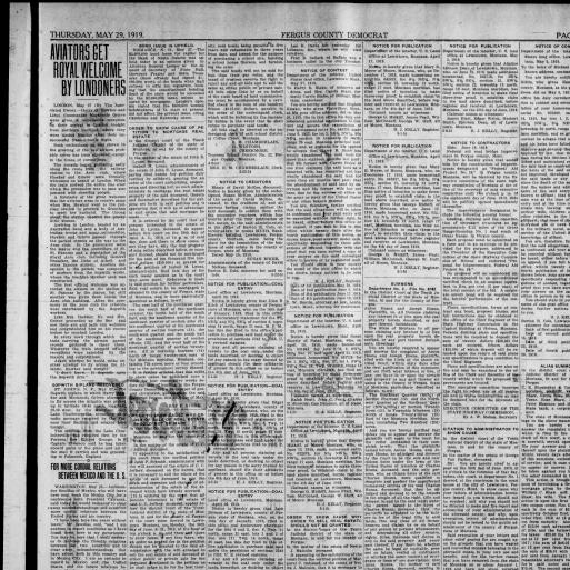 Fergus County Democrat (Lewistown, Mont ) 1904-1919, May 29
