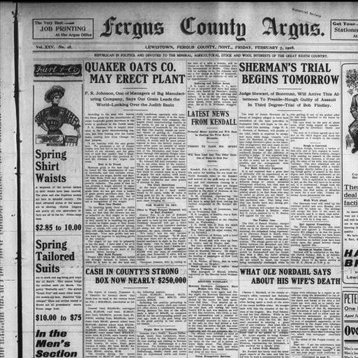 Fergus County Argus (Lewistown, Mont ) 1886-1946, February