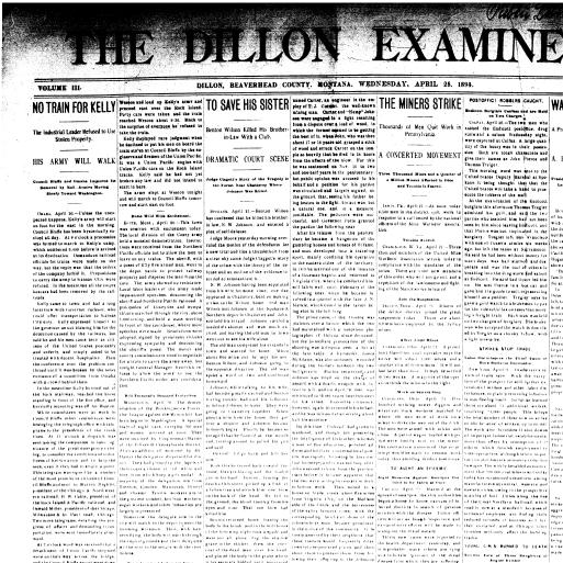 The Dillon Examiner (Dillon, Mont ) 1891-1962, April 25