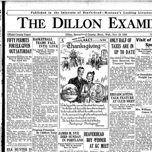 The Dillon Examiner (Dillon, Mont ) 1891-1962, November 24, 1948