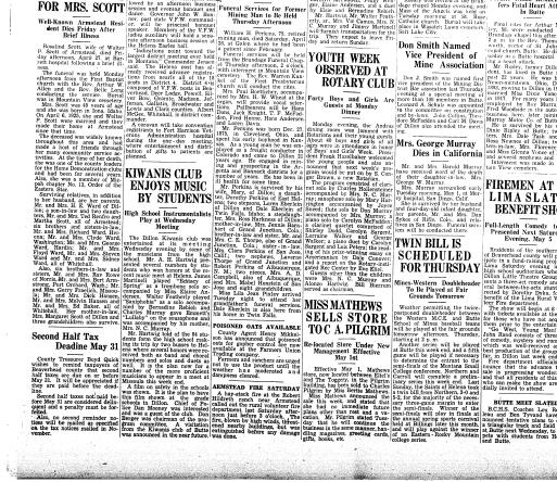 The Dillon Examiner (Dillon, Mont ) 1891-1962, May 02, 1951, Page 1