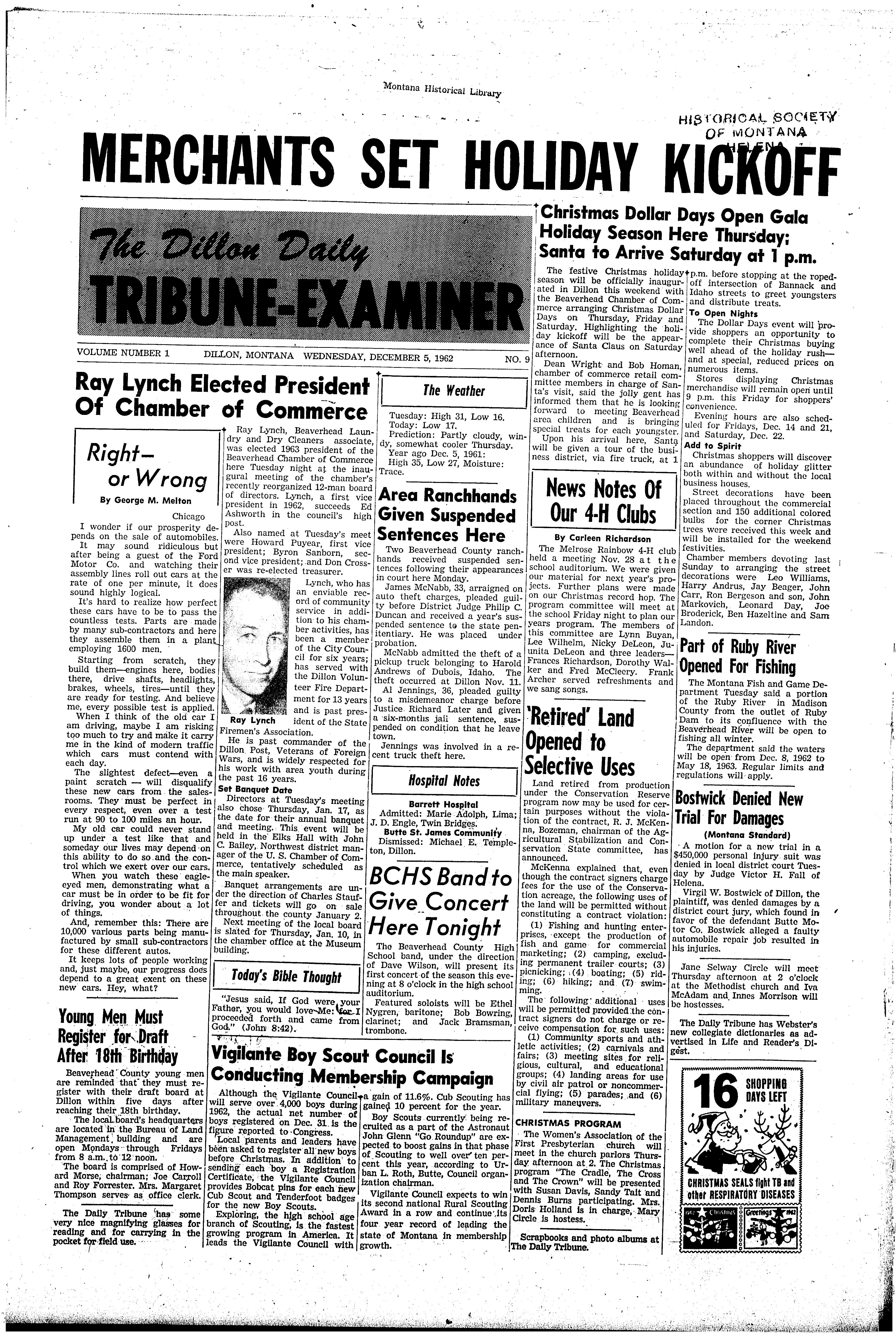 The Dillon Daily Tribune-Examiner (Dillon, Mont.) 1962-1971 ...