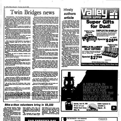 Dillon Tribune Examiner (Dillon, Mont ) 1982-1989, June 14
