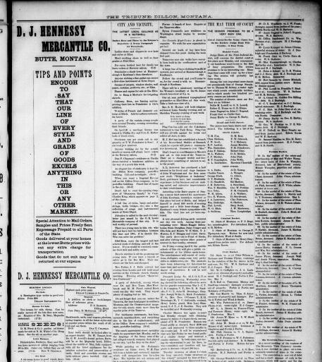 The Dillon Tribune (Dillon, Mont ) 1881-1941, May 02, 1890