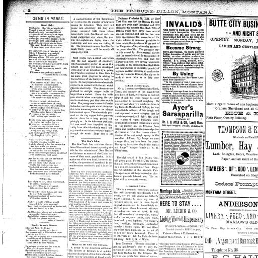 The Dillon Tribune (Dillon, Mont ) 1881-1941, July 08, 1892