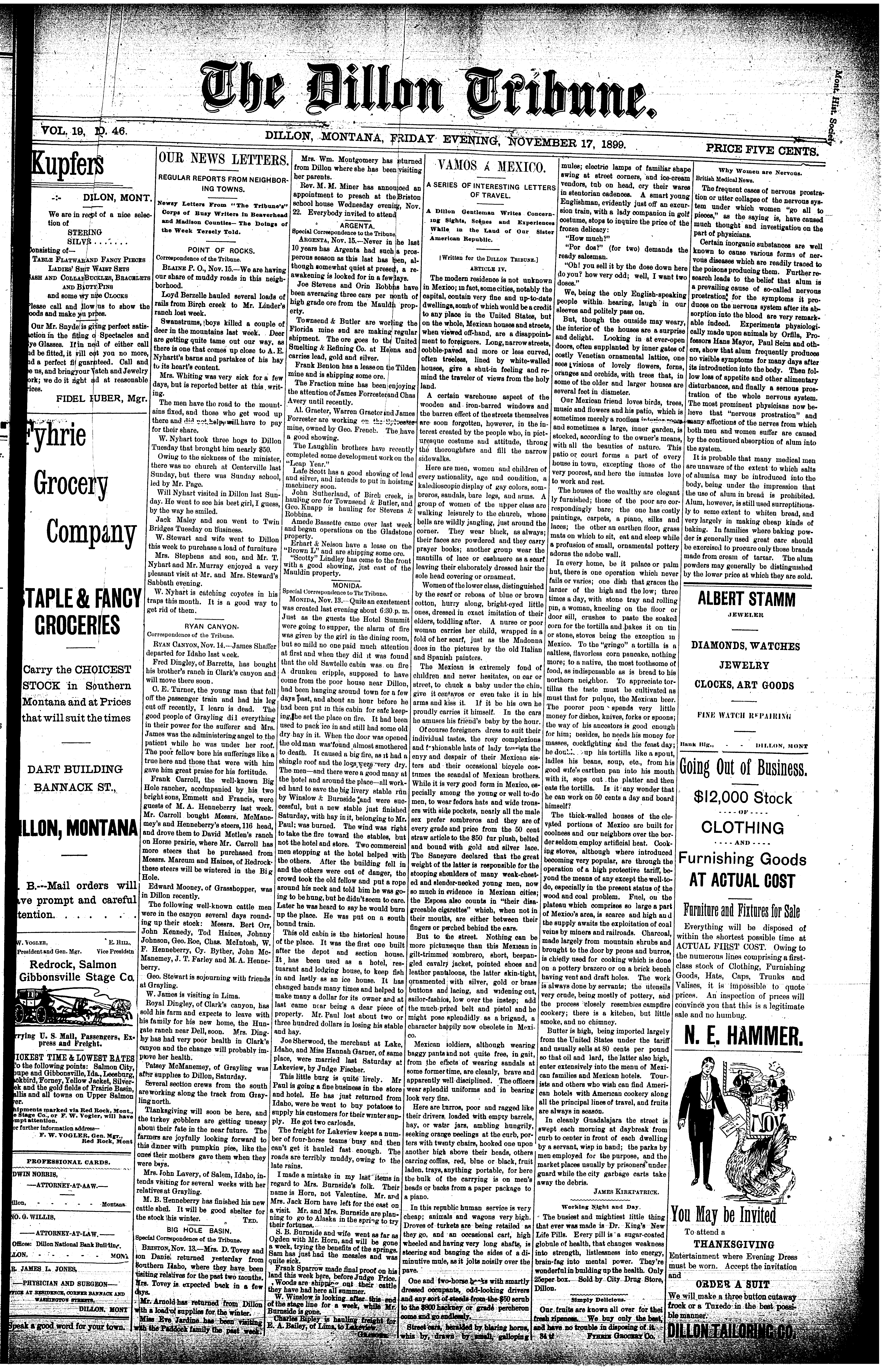 The Dillon Tribune (Dillon, Mont ) 1881-1941, November 17