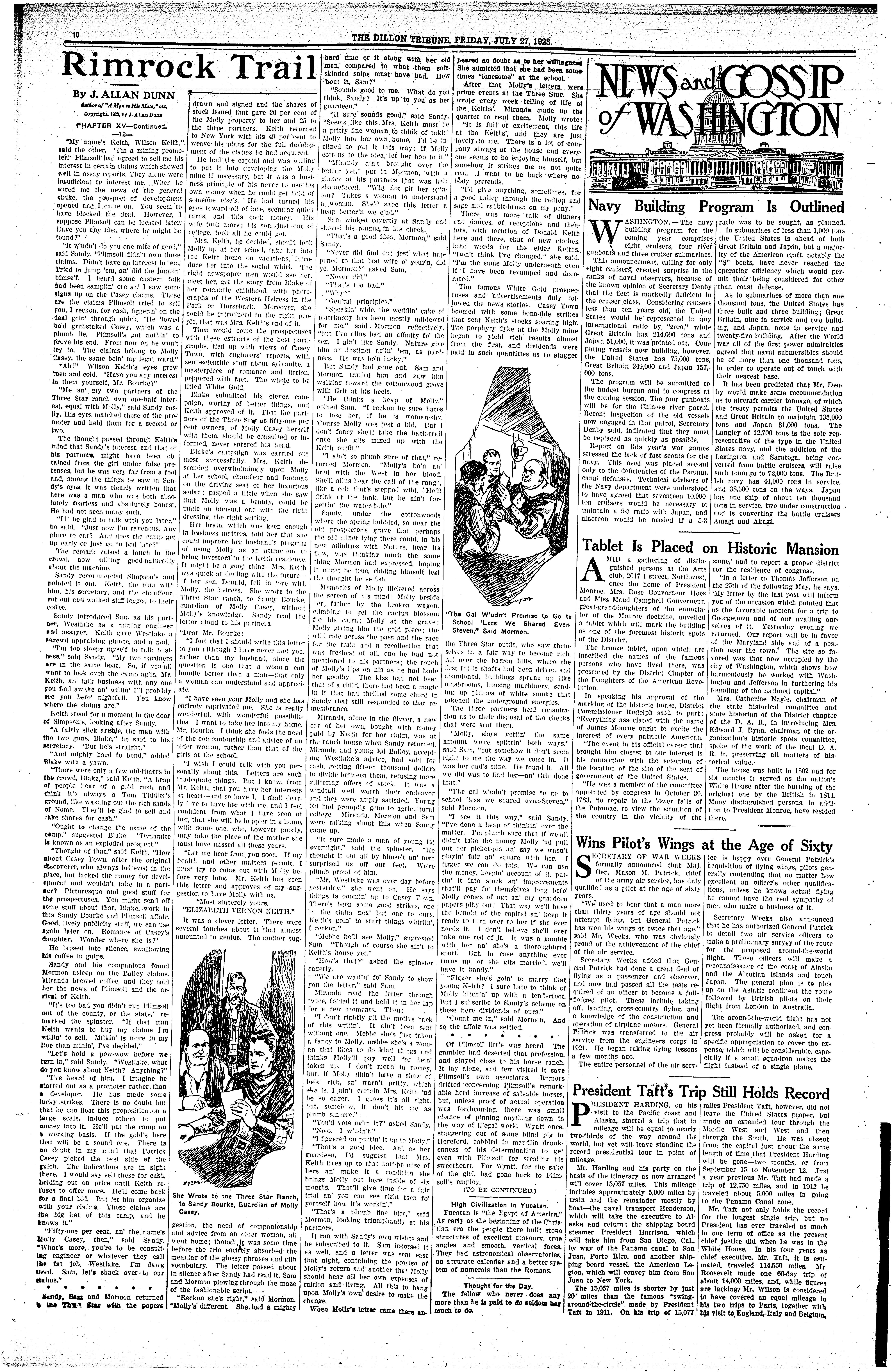The Dillon Tribune Dillon Mont 1881 1941 July 27 1923 Page 10
