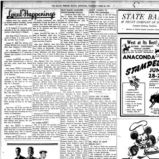 The Dillon Tribune Dillon Mont 1881 1941 June 26 1941 Page 5
