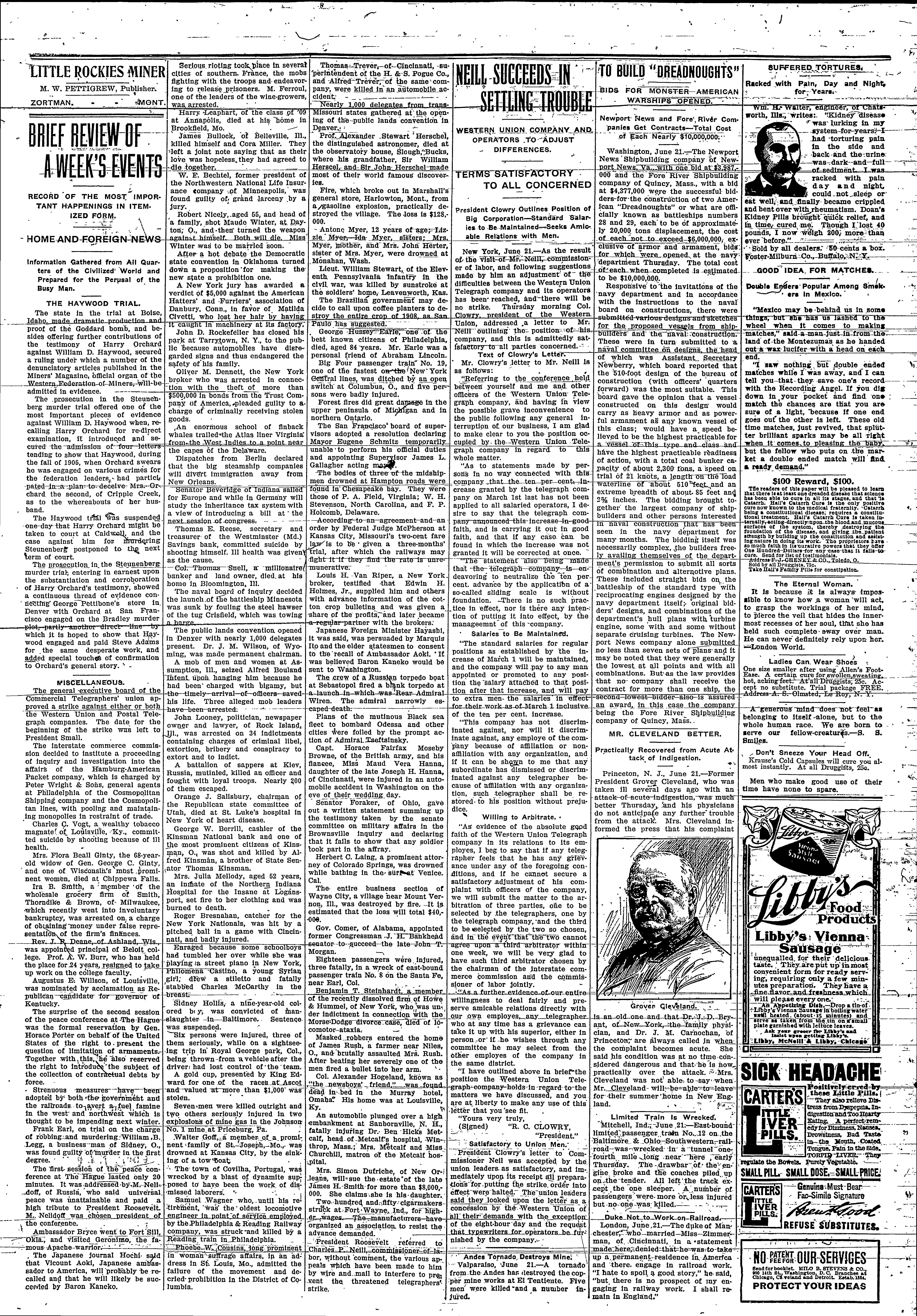 Little Rockies Miner (Zortman, Mont ) 1907-19??, July 11