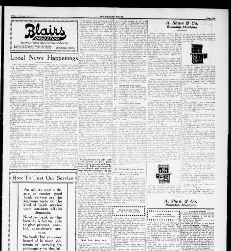 The Roundup Record (Roundup, Mont ) 1908-1929, October 12