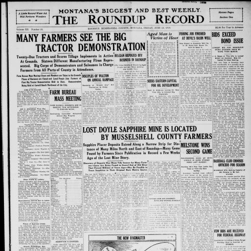 The Roundup Record (Roundup, Mont ) 1908-1929, June 20, 1919
