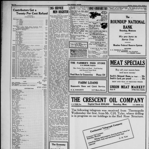 The Roundup Record (Roundup, Mont ) 1908-1929, October 03