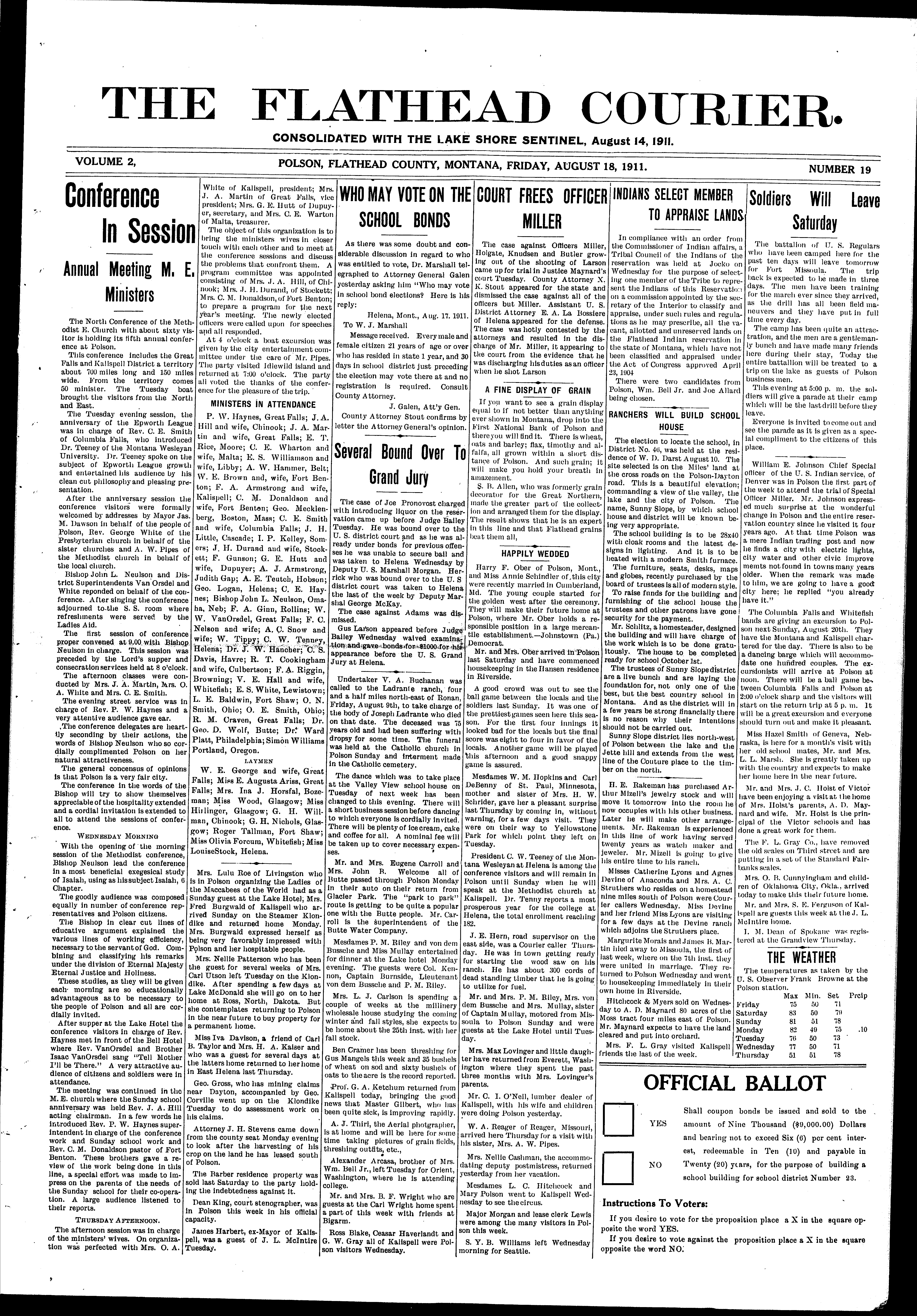 The Flathead Courier (Polson, Mont ) 1910-current, August 18