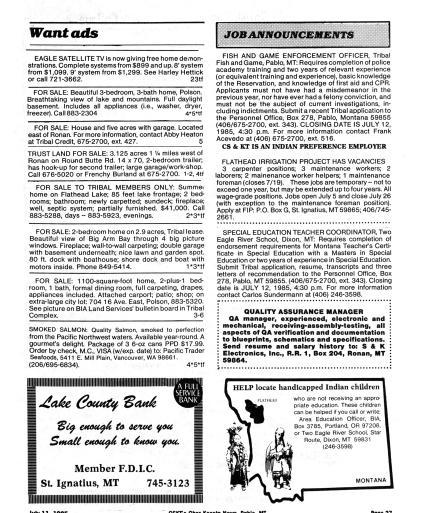 Char-Koosta News (Pablo, Mont ) 1985-current, July 11, 1985